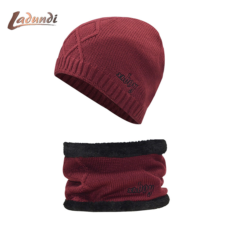 Winter Hat   Skullies     Beanies   Men Women Knitted Hat Scarf Winter Caps Mask Balaclava Bonnet Cap Wool Fur   Beanies   Hats