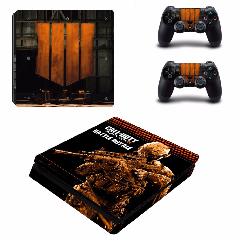 Game Call of Duty Black OPS 3 Decal PS4 Slim Skin Sticker For Sony PlayStation 4 Console and 2 Controllers PS4 Slim Skin Sticker