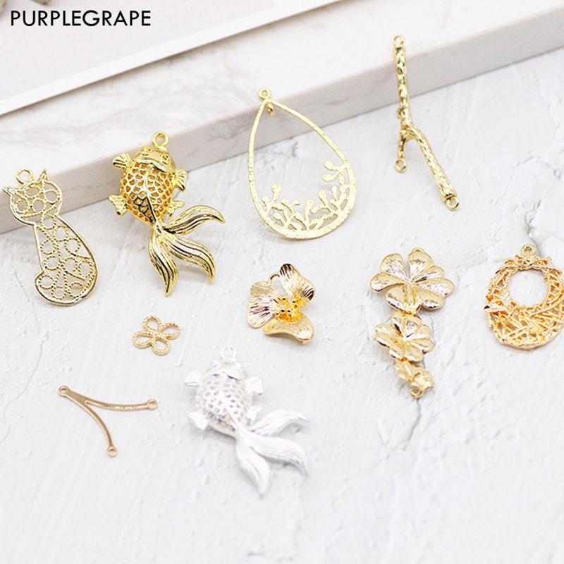 Copper Plated 18K Gold DIY Jewelry Material Earrings Jewelry Handmade Headdress Necklace Bracelet Accessories 1pcs PURPLEGRAPE