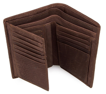 Free Shipping Low Price Vintage Leather Plaid Knitting Embossed Pattern Men Wallets JMD Brand # 8089C
