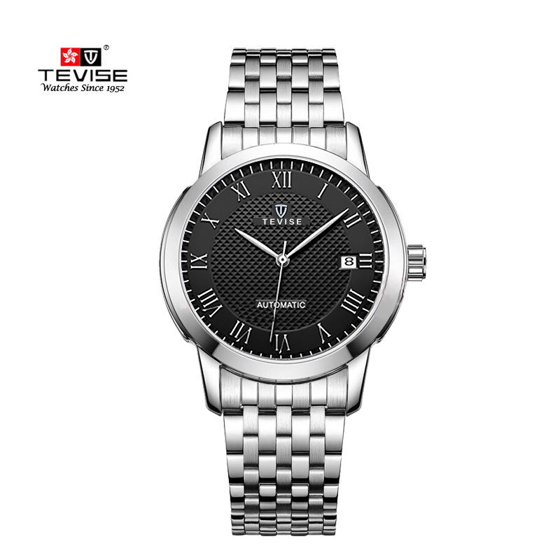 TEVISE Sports fashion  Automatic Watch Men Mechanical Watches Stainless steel Sport Luminous Relogio Automatico Masculino Clock splendid hcandice mens sports watches men s fashion mechanical stainless steel watch gold relogio masculino clock hombre
