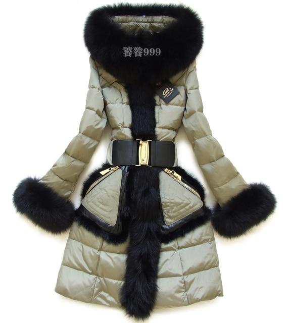 Бренд Вниз Пальто Женщин Вниз Утка 2016 Зимняя Куртка женщин вниз парка Большой Меховой Пуховик Большой меховой воротник пиджаки