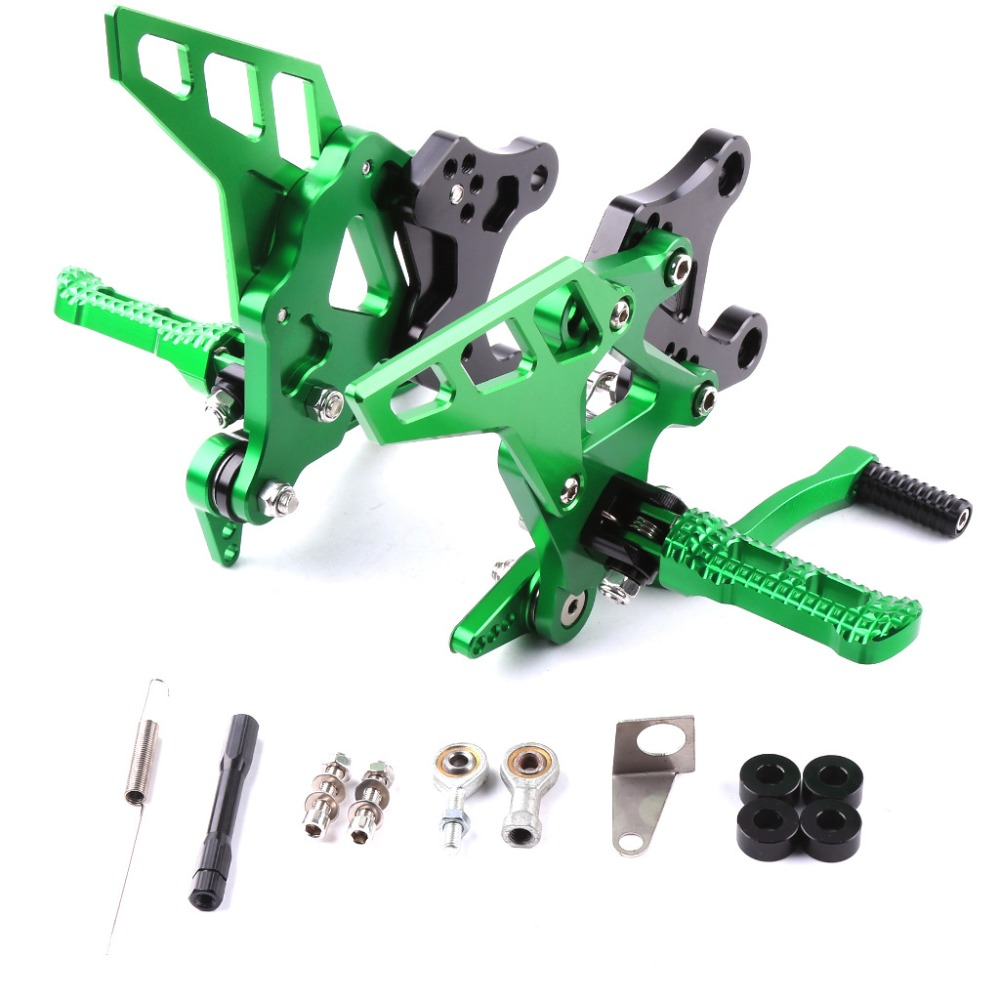 For KAWASAKI Z 900 Z900 2017 2018 2019 Motorcycle Accessories CNC Aluminum Footrest Rear Sets Adjustable Rearset Foot Pegs GREEN