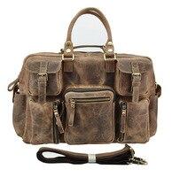 Новый Ретро Crazy Horse & масло воском Пояса из натуральной кожи Для мужчин Классические Портфели сумка Бизнес ноутбука Тетрадь Дорожные сумки