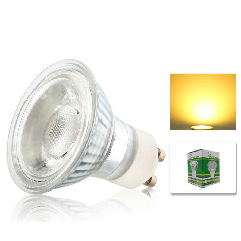 1x затемнения 10 Вт GU10 вел энергии лампы пятно света лампы с красивый теплый холодный белый Цвет ac195-240v