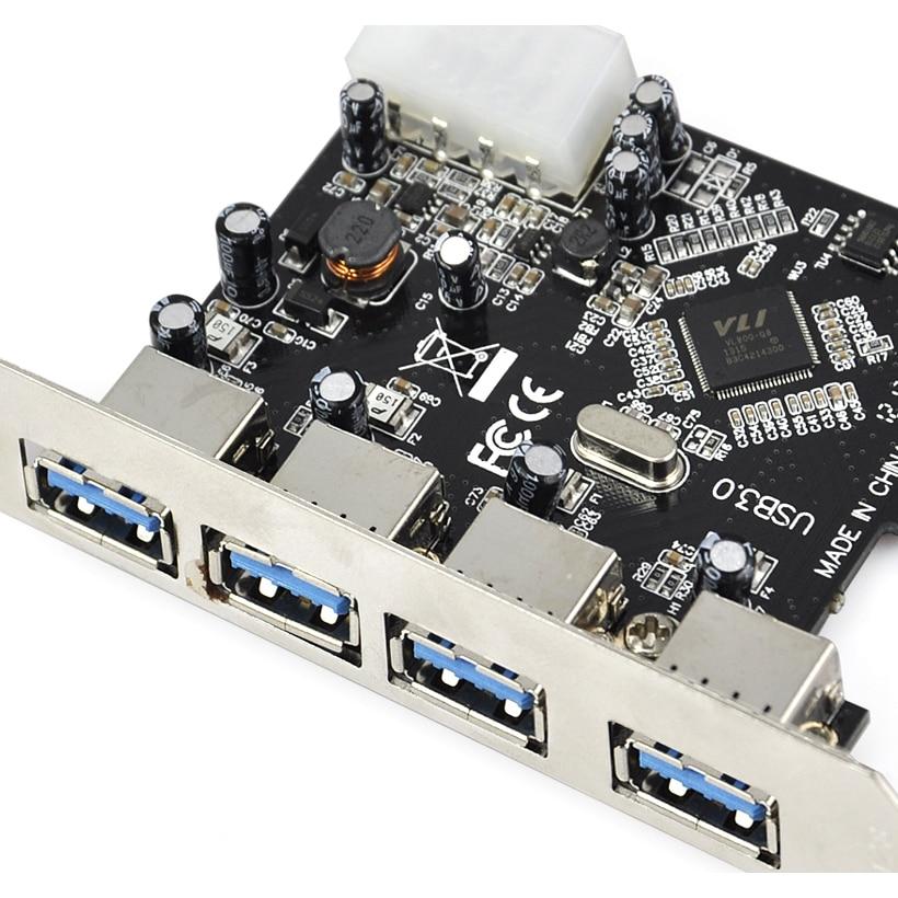 FÖRDERUNG! SCHNELLE USB 3.0 PCI E PCIE 4 PORTS Express Erweiterungskarte Adapter