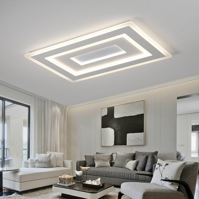 Elegant White Square Modern Led Chandelier Lustre For Living Room Bedroom Study  Room Home Deco AC85 265V Chandelier Lighting  In Chandeliers From Lights U0026  Lighting ...