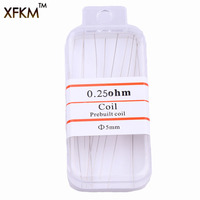 XFKM Notch coil 10Pcs/lot SS316L heating wire 0.25ohm premade Prebuilt coils  for Electronic Cigarettes RDA RBA RTA Atomizers [category]