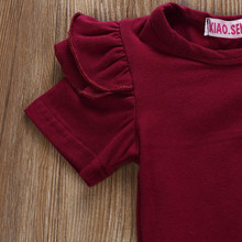 Baby girl clothes Short Sleeve O-Neck Romper+Print Dress +Print Bow Headband