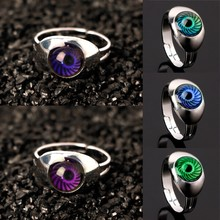 New 17mm Magic Eye Shape Color Change Mood Ring Emotion Feeling Temperature Rings Women(China)