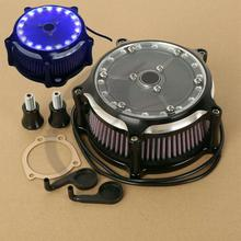 Motorcycle LED Air Cleaner Intake Filter For Harley Sportster XL 1200 883 91-18 48 72 Iron 09-14