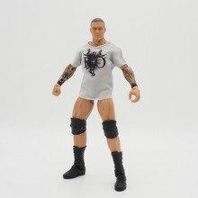 Wrestling gladiators Action figures Wrestler Building Blocks Super Heroes Kids Gift Toys Randy Orton RKO Elite White Tee