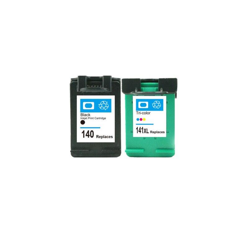 2 pcs For HP 140 141 Ink Cartridge For HP140 141 xl Photosmart C4483 C4583 C4283