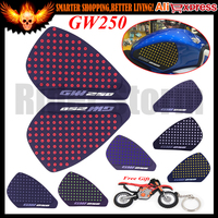 Red/Black/Blue/Gary/Gold/White Motorcycle Tank Traction Pad Side Gas Knee Grip Protector Anti slip sticker For SUZUKI GW250