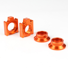 CNC Rear Chain Adjuster Axle Block And Wheel Spacers/ Hub Collars For SX SX-F XC XC-F 125 250 350 450 530 Motorcycle