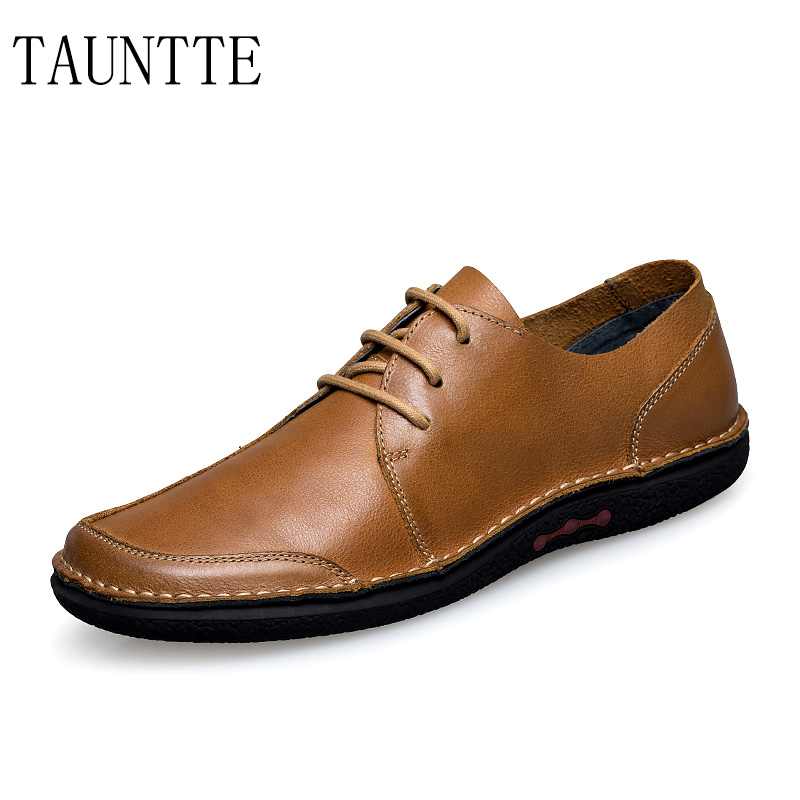 Tauntte Summer Casual Genuine Leather Shoes Fashion Breathable Cow Leather Men Shoes For Free Shipping top brand high quality genuine leather casual men shoes cow suede comfortable loafers soft breathable shoes men flats warm