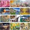 Hot Sale 12 Types Landscape Jigsaw Puzzle 1000 Adults Parent Child Play Noctilucent Paper Puzzles Educational