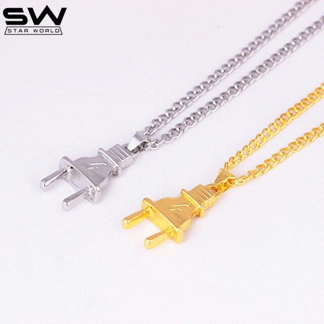 STARWORLD Imitation tool necklace Hip hop punk personality plug