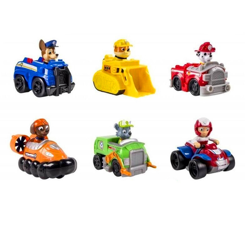 Paw patrol Dog Puppy Patrol car 6pcs/set Anime Action Figures vehicle Toy Patrulla Canina Juguetes kids toy gift canine patrol dog toys russian anime doll action figures car patrol puppy toy patrulla canina juguetes gift for child