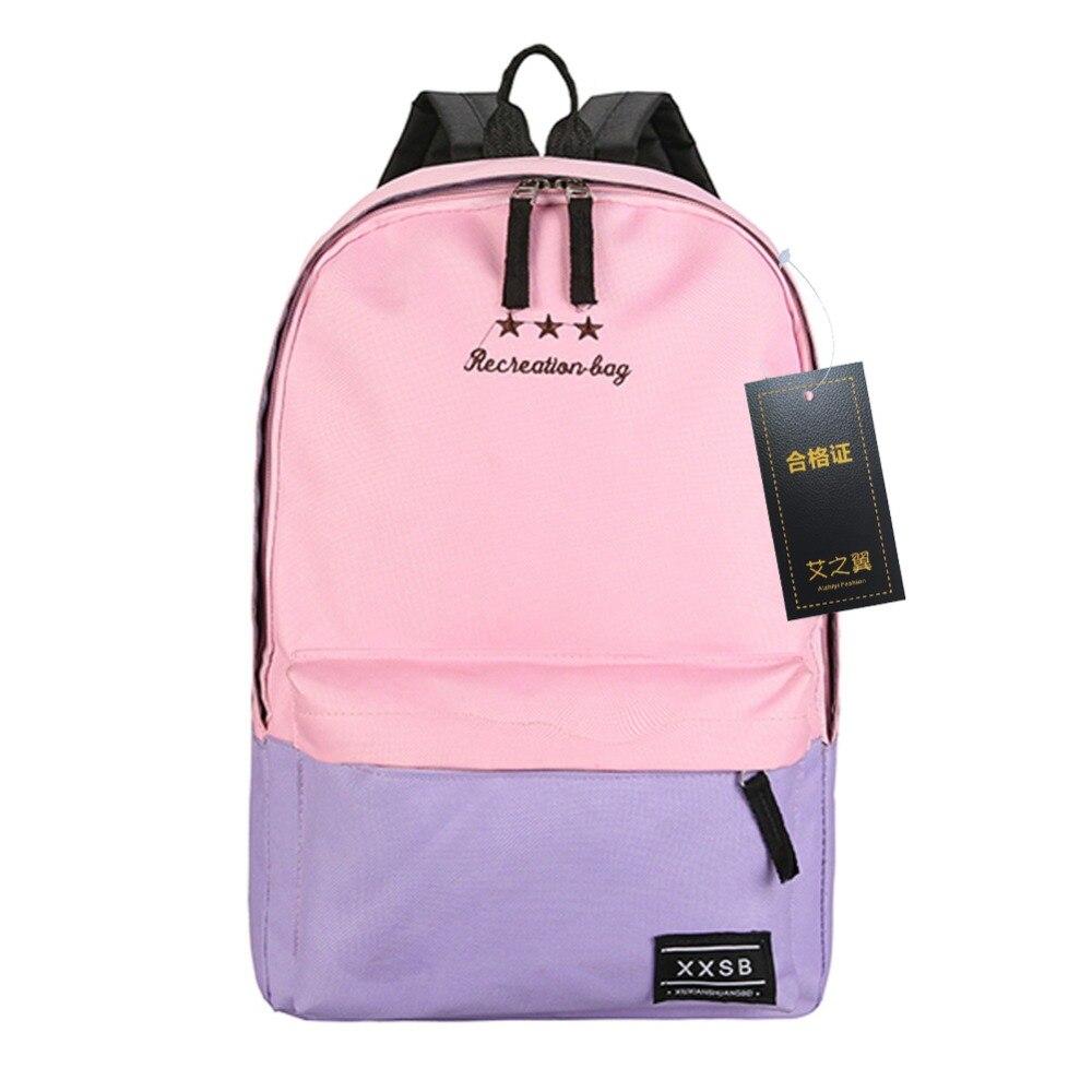 купить Fashion Backpack Women Children Schoolbag Back Pack Leisure Korean Ladies Knapsack Laptop Travel Bags for School Teenage Girls онлайн