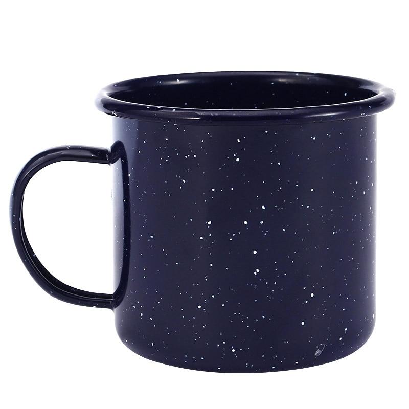 450 ml Enamel Mug Depp Blue for Outdoor ,Travel Coffee Mug ,Breakfast Cup for Kitchen Tool