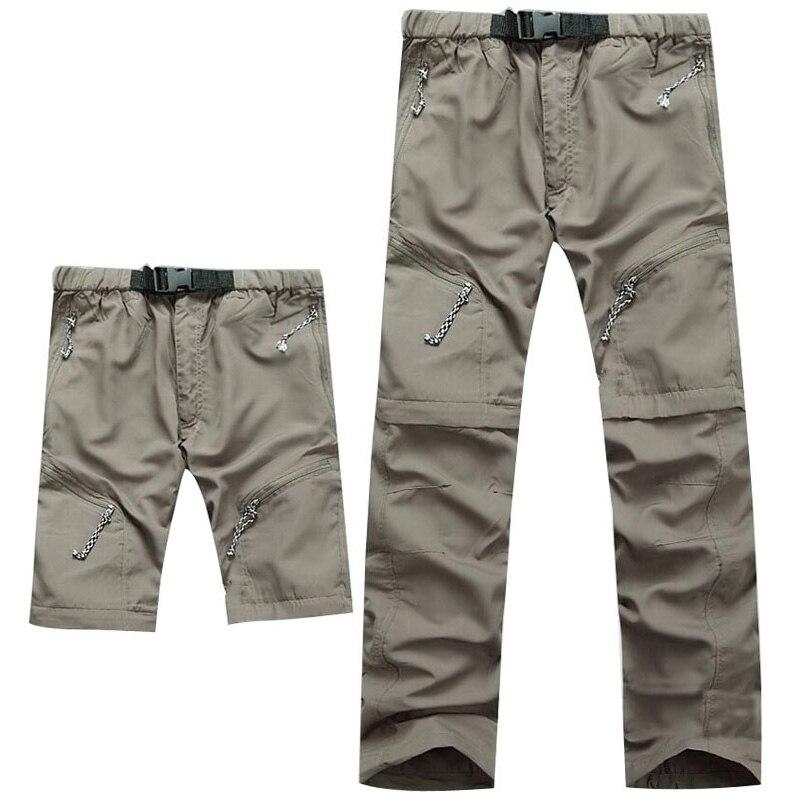 2019 Nen Summer Detachable Quick Dry Men Pants Waterproof Military Active Multifunction Trousers Pockets Mens Casual Cargo Pans