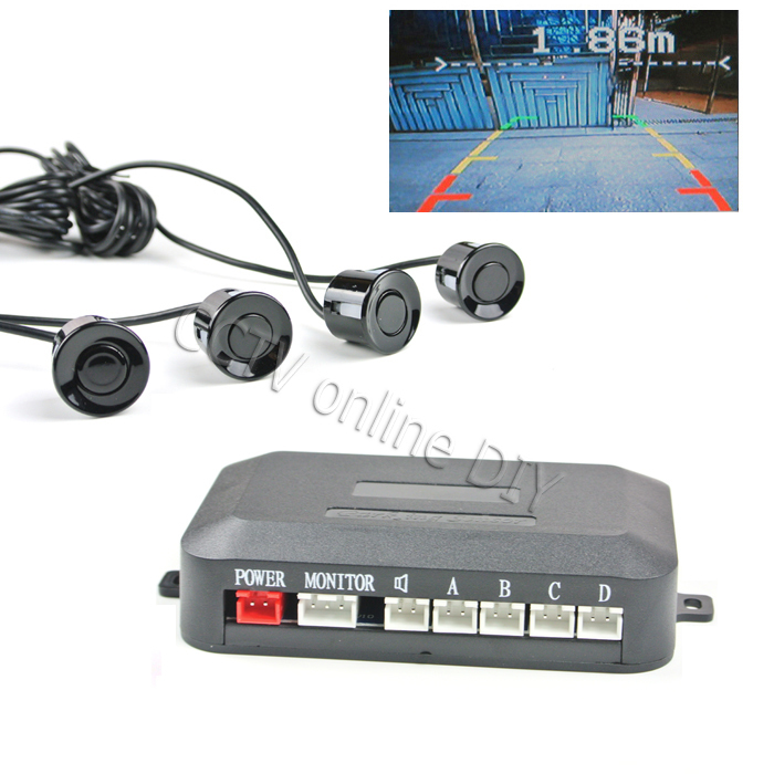 ANSHILONG Security Car Parking Sensors with Video In Out for Car Rearview font b Camera b