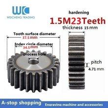 Dentes 1pc 1.5M 23 23T Engrenagem 1.5 Módulo de Peças de Engrenagem DIY Modelo de 15mm de Espessura