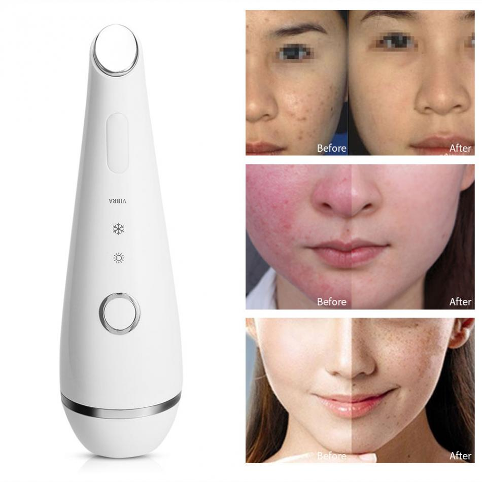 Photon Light Therapy Hot Cold Vibration Face Eye Massager Home SPA Anti-Aging Skin Rejuvenation Wrinkle Remover Beauty Machine home travel use iontophoresis ems stimulator anti aging anti wrinkle face eye lift skin tightening firming beauty instrument