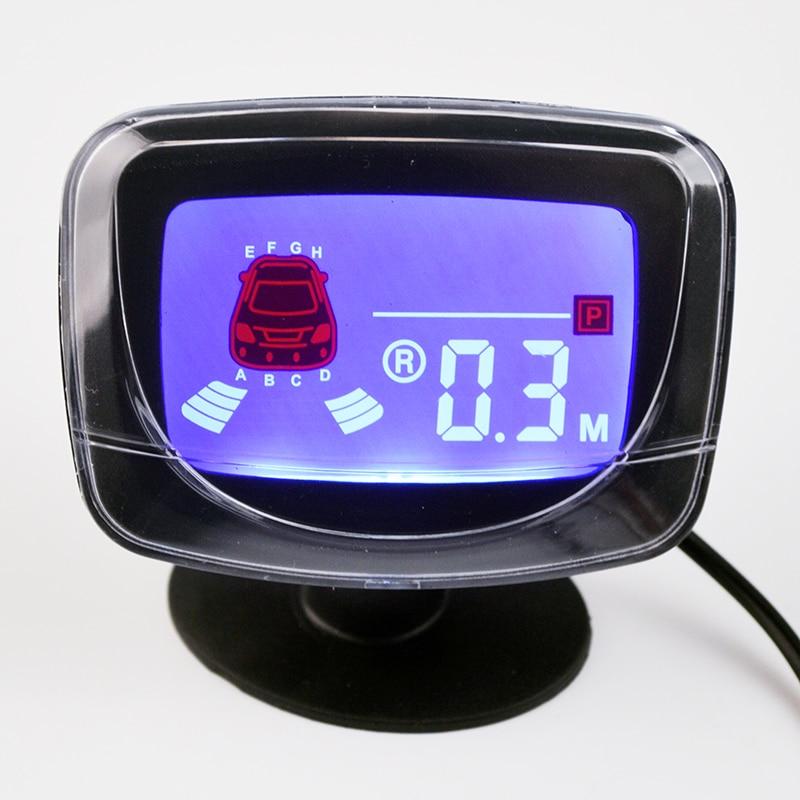 Розничная коробка Viecar, 4 датчика s, английский человеческий голос, ЖК-датчик парковки, набор, настоящий человек, Речевая 22 мм автомобильная система заднего радара