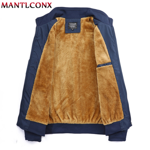 Image 3 - MANTLCONX Winter Jacket Men 2020 브랜드 캐주얼 남성 자켓 및 코트 두꺼운 남성 Outwear Jacket 남성 의류 Fleece Thicken Coats