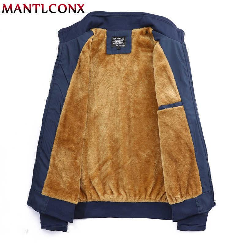 MANTLCONX chaqueta de invierno de marca 2019 para hombre chaquetas y abrigos gruesos para hombre chaqueta de abrigo para Hombre Ropa de lana abrigos gruesos