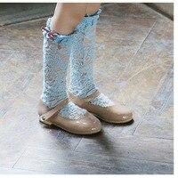 Hot Sale Toddler Baby Socks School Girls Cotton Knee High Lace Socks Kids Xmas Boys Girls