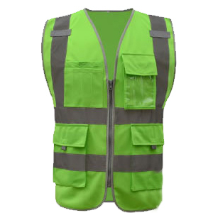 SFvest Safety Reflective vest men safety workwear work vest tool pockets yellow blue waistcoat free shipping 4