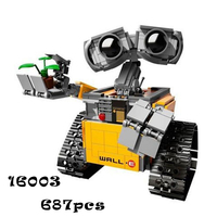 Model Building Kits Compatible With Lego Lepin 16003 Robot WALL E 3D Blocks Educational Model Building