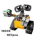 Kits de edificio modelo compatible con lego Lepin 16003 Robot Wall-e 3D modelo de construcción bloques Educativos juguetes y pasatiempos para niños