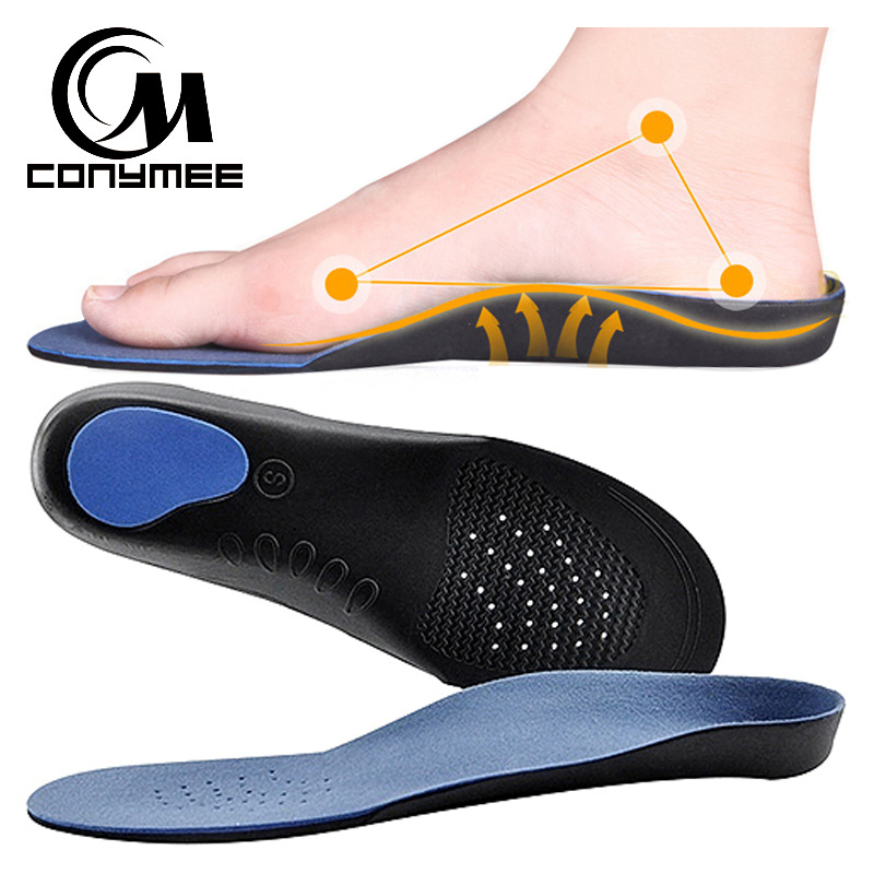 CONYMEE Orthopedic Insoles Flat Feet High Arch Support Shoe Inserts Men Women Shoes Insole Sneakers Cushion Pads Care Insoles texu orthopedic arch support insole flat foot correction shoe insoles arch cushion inserts