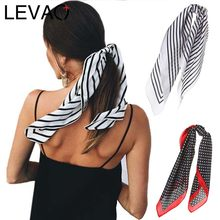 LEVAO Korea Fashion Print Handkerchief Hair Ribbon Hair Scarf Elastic Hair Band Women Headband Girls Headwear Hair Accessories(China)