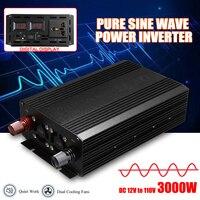 3000 Вт Чистая синусоида солнечный мощность Инвертор DC 12 В к AC 110 цифровой дисплей для дома электрические сверла мощность Инвертер