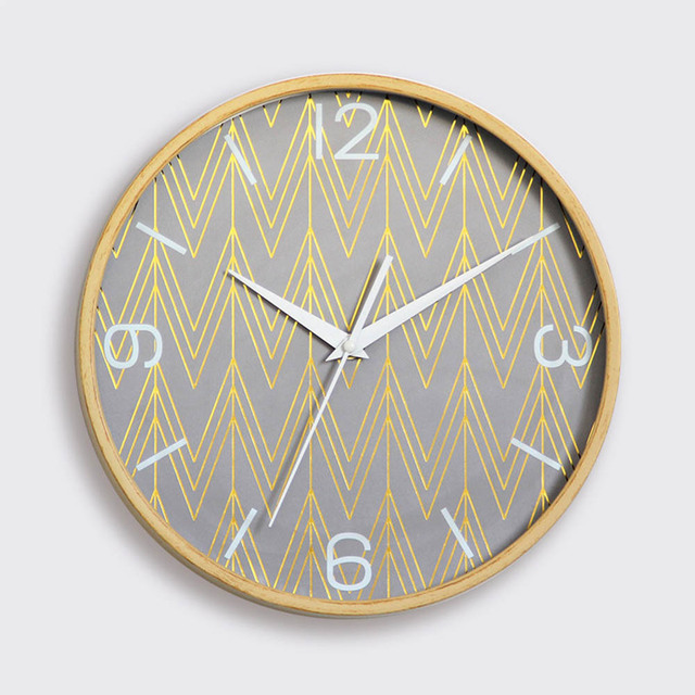 Wall Clock Simple Modern Living Room Bedroom Quiet Glass Clock Nordic Style  European Jane Europe Hanging