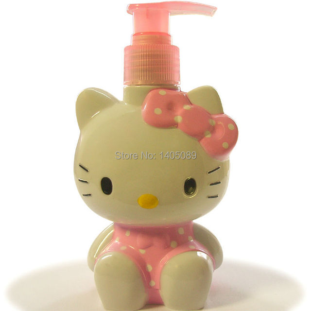 New Cute Sanrio Pink Girl Bathroom Hello Kitty Doraemon Lastic Lotion Water  Spray Atomizer Dispenser Bottle