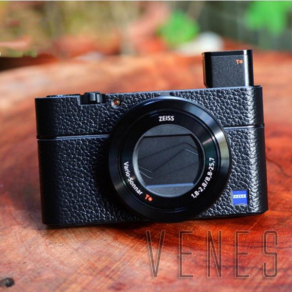 Leather Body Cover Protector Lychee Texture Suit  For Sony RX100 III IV M3 M4 Digital Camera