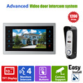 Homefong 10 TFT LCD de Video Teléfono de la Puerta Sistema de Timbre con Cámara 3.7 MM Lente 1200TVL 1V1 Apartamento Casa Kit de Entrada