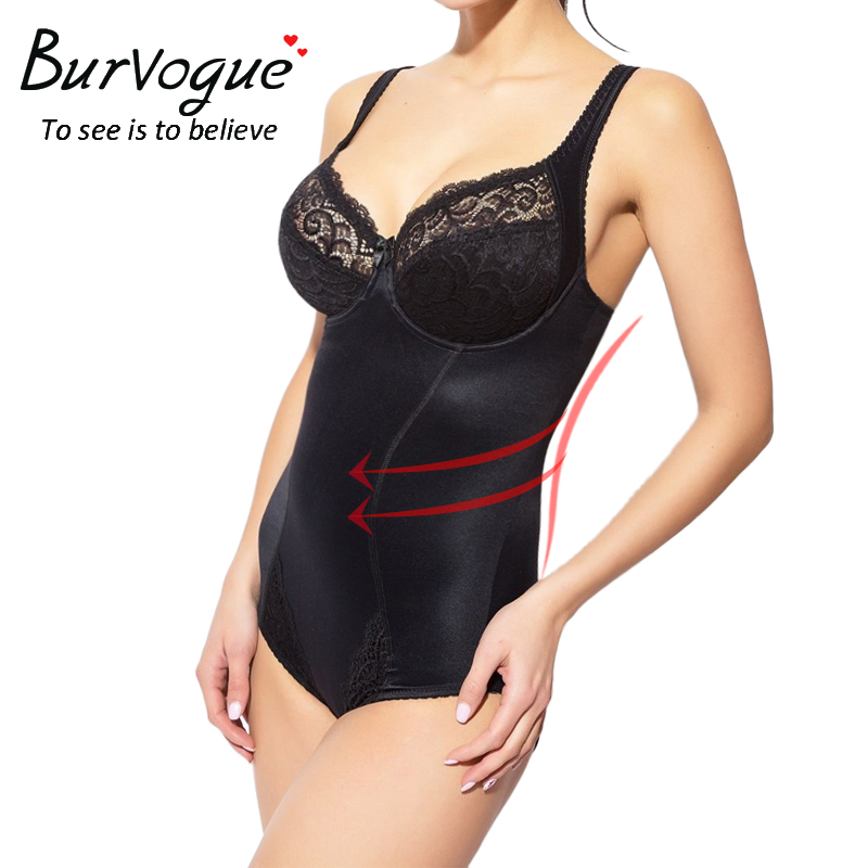 Burvogue Women Body Shaper Seamless Bodysuits Shapewear Waist Cincher Control Shaper Slimming Underwear Shaper Plus Size XS-3XL number
