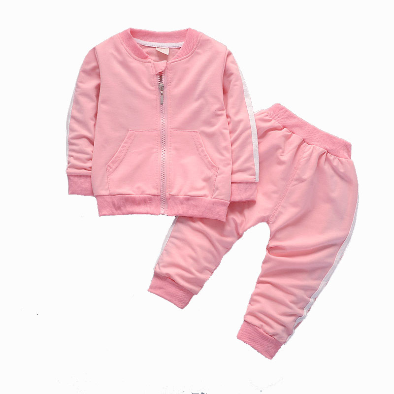 2017 fashion autumn winter baby boy girls clothing sets newborn tracksuits zipper jacket+pants infant 2pcs suit baby clothes set 2017 newborn baby boy girls clothing 3pcs sets infant toddle girls romper pants hat snuggle on this muggle baby outfit set
