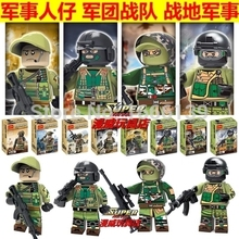 DECOOL modern war 11pcs/lot SWAT Minifigures weapons building blocks Police Counter Strike compatible with lego Mini Figures