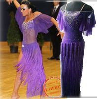 customized Latin costume tassel Rumba dress fringe dresses
