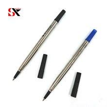 Yushun azul ou preto altura qualidade 0.5mm 5pc rolo bola caneta recargas gel tinta para escritório escola