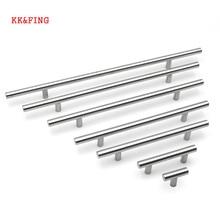 все цены на KK&FING 50-350mm T Bar Stainless Steel Cabinet Handles Diameter 10mm Kitchen Cupboard Door Pulls Drawer Knobs Furniture Hardware онлайн