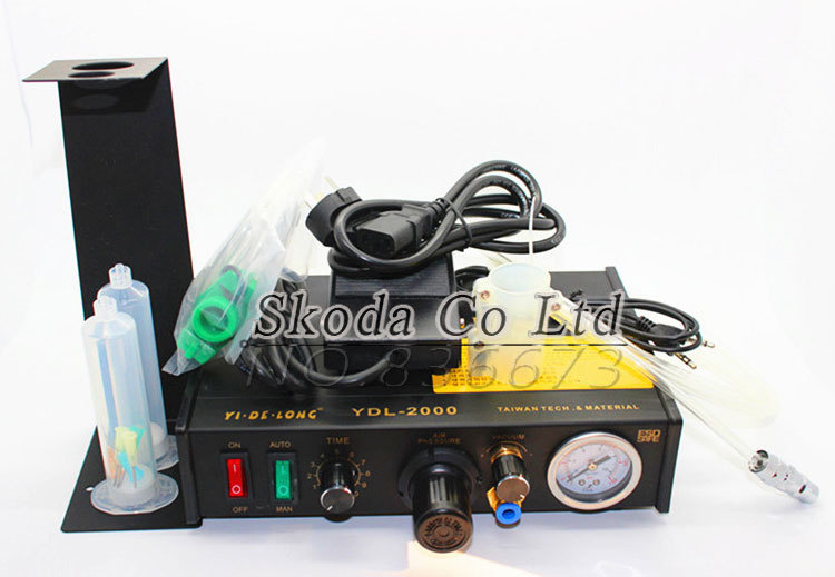 YDL-2000 automatic Glue Dispenser/ plastic injection UV Solder Paste/Liquid Controller Footswitch control 220V liquid injection kits are used in two stage refrigeration plant to control liquid injection into the intercooler